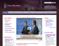 Screenshot of conservative site designed by Huberspace